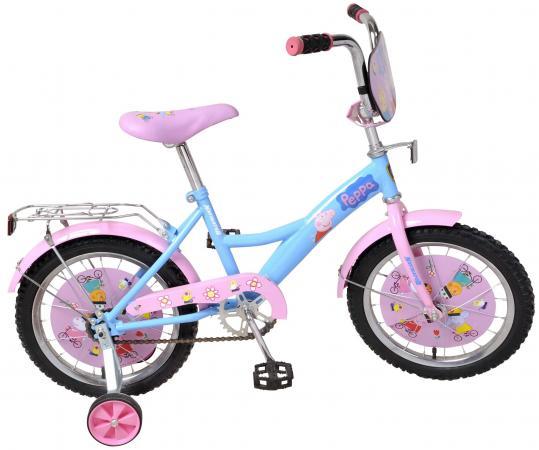 Велосипед двухколёсный Navigator Peppa Pig голубой-розовый ВН16093Н navigator велосипед двухколесный peppa pig