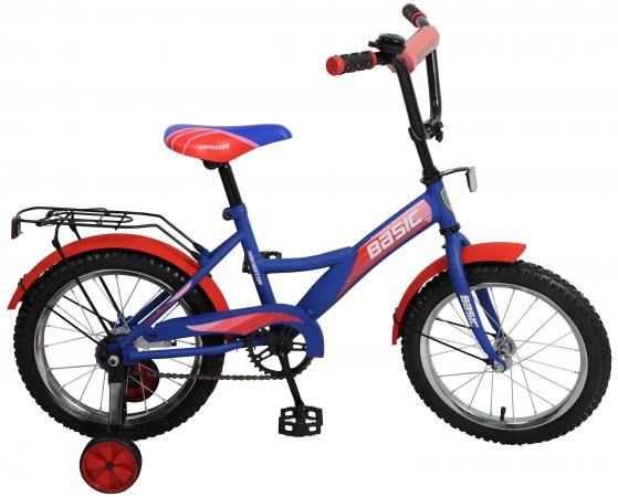 Велосипед двухколёсный Navigator Basic сине-красный ВН16104Н navigator велосипед 14 basic синий вн14147