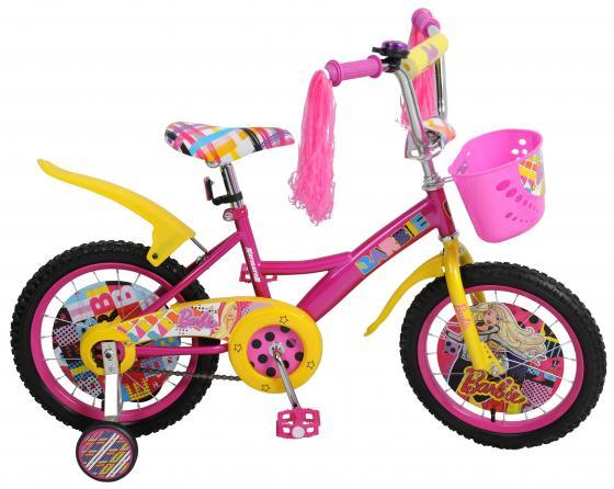 Велосипед двухколёсный Navigator Barbie розово-желтый ВН16108Н