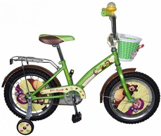Велосипед двухколёсный Navigator Маша и Медведь 16 зеленый ВН16115 велосипед royal baby pony 2 в 1 зеленый двухколёсный rb12b 4