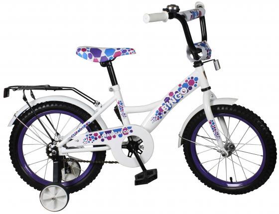 Велосипед двухколёсный Navigator Bingo girls 16 бело-голубой ВН16126 велосипед двухколесный navigator bingo 12 бело фиолетовый