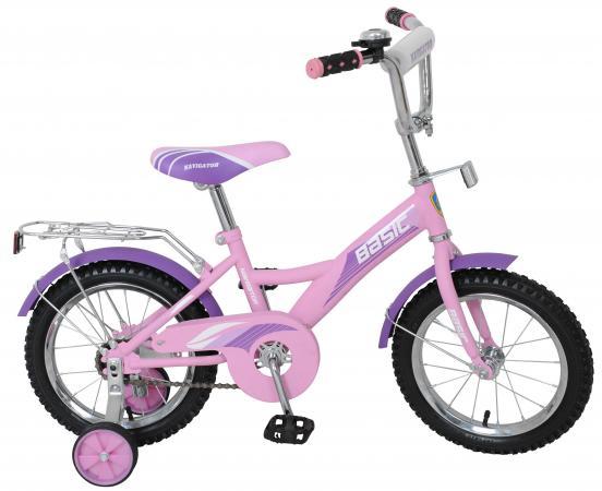 Велосипед двухколёсный Navigator Basic розово-фиолетовый ВН14145Н
