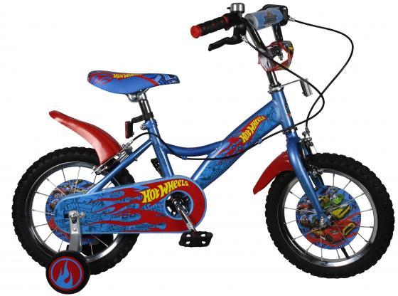 Велосипед двухколёсный Navigator Hot Wheels голубой-красный ВН14153Н