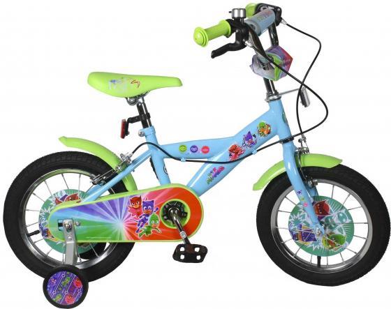 Велосипед двухколёсный Navigator Герои в Масках голубой-зеленый ВН14171 navigator navigator детский велосипед герои в масках 14 дюймов