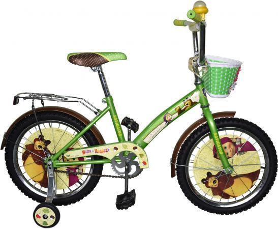 """Велосипед двухколёсный Navigator Маша и Медведь 18"""" зеленый ВН18081"""