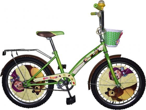 """Велосипед двухколёсный Navigator Маша и Медведь 20"""" зеленый ВН20171"""