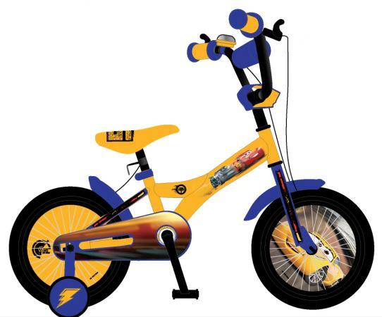 Велосипед двухколёсный Navigator Тачки желто-синий ВН20177