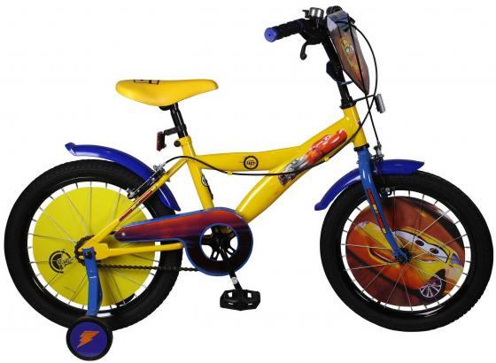 Велосипед двухколёсный Disney Тачки желто-синий ВН18088