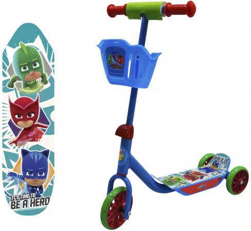 Самокат трехколёсный 1TOY PJ Masks синий Т11700 1toy самокат spider man