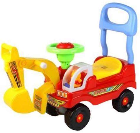 Интерактивная игрушка Everflo Машинка Экскаватор от 1 года красный 0567915 интерактивная игрушка eclipse toys гусеница магна от 3 лет красный mm8930r