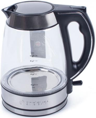 Чайник ENDEVER Endever KR-321G 2600 Вт чёрный 1.7 л стекло чайник endever 321g kr 2800 вт 1 7 л пластик стекло чёрный прозрачный