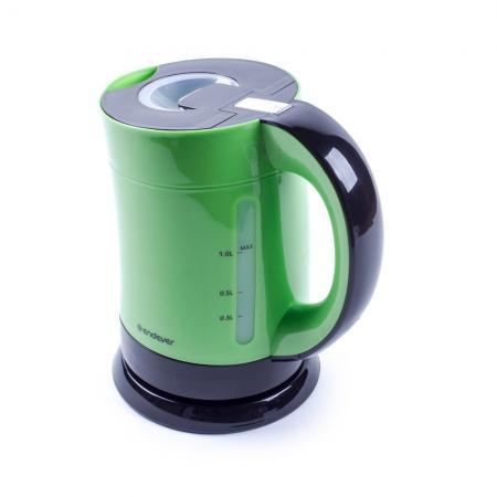 Чайник электрический Endever Skyline KR-357, черный/зеленый чайники электрические endever чайник электрический