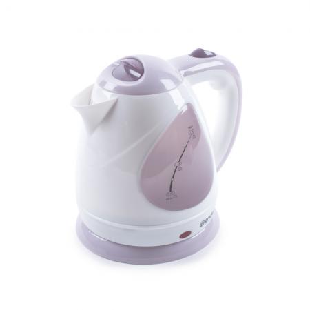 все цены на Чайник ENDEVER Skyline KR-348 2100 Вт белый розовый 1.5 л пластик 80174 онлайн