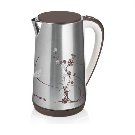 Чайник Polaris PWK 1726CA серебристый 2400 Вт, 1.7 л, нержавеющая сталь чайник электрический polaris pwk 1726ca 2400вт серебристый и рисунок