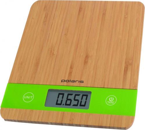 Весы кухонные Polaris PKS 0545D бамбук зелёный кухонные весы polaris pks 1044dg