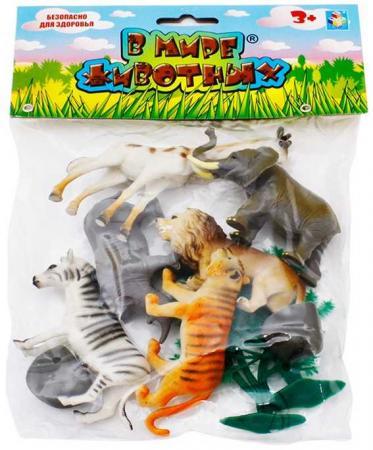 1toy В мире животных дикие жив.10шт.пакет с хед.23х18х5см. 1toy в мире животных наб игр животных 6 шт х 15 см в упаковке пвх с хедером