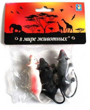Набор игрушек 1toy В мире животных - Крысы Т10492 1toy в мире животных наб игр животных 6 шт х 15 см в упаковке пвх с хедером