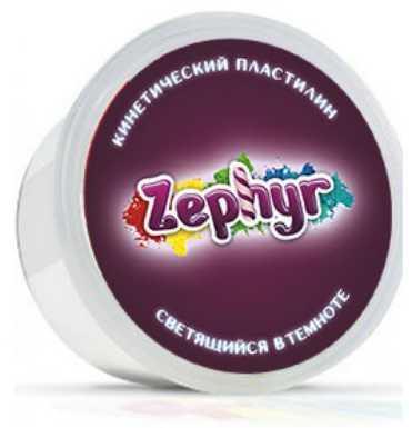 Кинетический пластилин ZEPHYR Кинетический пластилин (светится в темноте) 1 цвет 00-00000825 seven til midnight комплект сексапильное неглиже и стринги