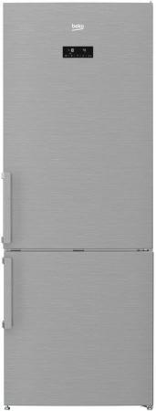Холодильник Beko RCNE520E21ZX нержавеющая сталь холодильник beko rcnk365e20zx двухкамерный нержавеющая сталь