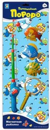 Интерактивная игрушка 1Toy Магнитная рыбалка - Пингвиненок Пороро от 3 лет Т59708 интерактивная игрушка наша игрушка рыбалка эл утенок от 3 лет жёлтый 9981 17a