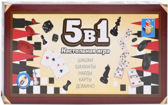 все цены на 1toy Игра настольная 5в1 Шашки/шахматы/нарды/карты/домино на магните 25х13,2х3,5см