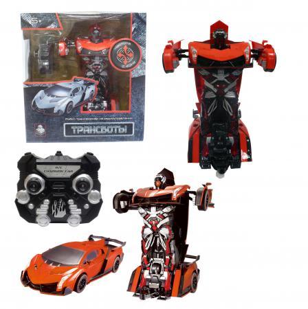 Робот-трансформер 1Toy Трансбот на радиоуправлении Т10858 1toy робот трансформер на радиоуправлении машина цвет оранжевый