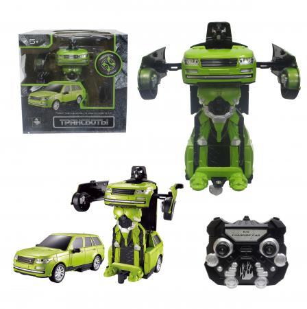 Робот-трансформер 1Toy Трансботы - Джип на радиоуправлении Т10866 1toy робот трансформер на радиоуправлении джип цвет синий
