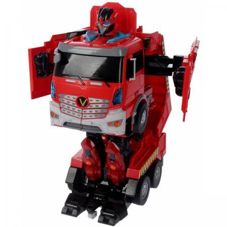 Робот-трансформер 1Toy Пожарная машина на радиоуправлении Т11023 1toy робот трансформер на радиоуправлении машина цвет оранжевый