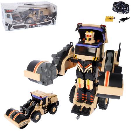 Робот-трансформер 1Toy Робот-каток на радиоуправлении Т10599 1toy робот трансформер на радиоуправлении машина цвет оранжевый