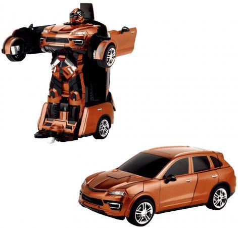 Робот-трансформер 1Toy Трансботы на радиоуправлении Т10859 1toy робот трансформер на радиоуправлении машина цвет оранжевый