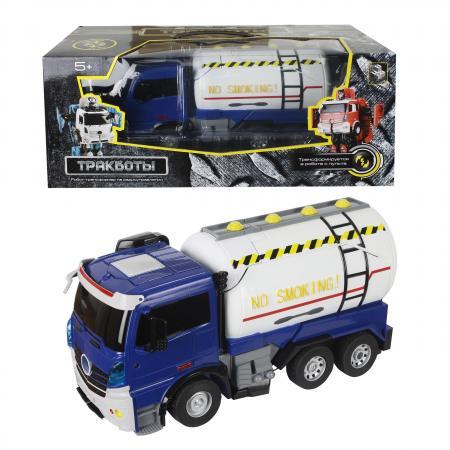 Робот-трансформер 1Toy Трансботы - Грузовик 38 см на радиоуправлении Т11024 1toy грузовик тягач на радиоуправлении heavy truck