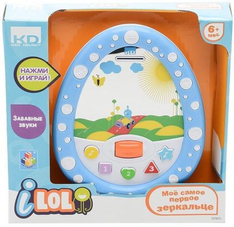 купить Интерактивная игрушка 1Toy KIDZ DELIGHT - МОЕ САМОЕ ПЕРВОЕ ЗЕРКАЛЬЦЕ от 6 месяцев синий Т57071 по цене 495 рублей