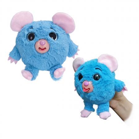 Фигурка мышка 1toy Дразнюка-Zooка - Мышка 13 см синий искусственный мех текстиль пластик Т10350 jp 102 2 фигурка мышка pavone