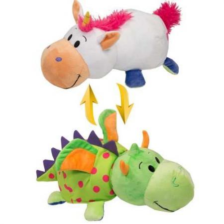 Мягкая игрушка вывернушка 1toy вывернушка единорог-дракон 40 см белый зеленый текстиль Т10930 цена