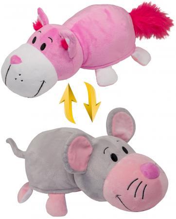 Подушка вывернушка 1toy Розовый кот-Мышка 35 см плюш подушка вывернушка 1toy розовый кот мышка 35 см плюш