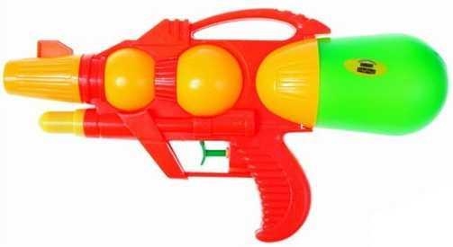 Водный бластер 1TOY Аквамания с двумя отверстиями зеленый желтый красный Т59453 водяная бомбочка 1toy аквамания водяные бомбочки цвет в ассортименте т11594