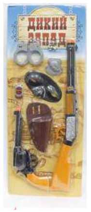 Набор 1TOY Дикий Запад оранжевый черный Т59141 1toy набор bbuddieez оранжевый домик для хранения с подвеской 3 шарма персонажа 1toy