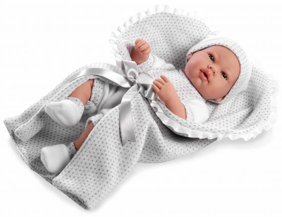 Пупс Arias Elegance с соской и белым конвертом 42 см Т11099 пупс интерактивный arias elegance с одеялом