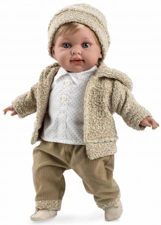 Кукла Arias Elegance - Мальчик в бежевом костюме с соской 42 см со звуком Т11130 кукла arias elegance elian 42 см плачущая т59786