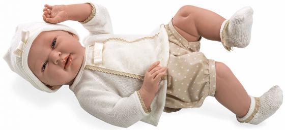 Пупс Arias Elegance в бежевой кофте 52 см Т11124 пупс интерактивный arias elegance с одеялом