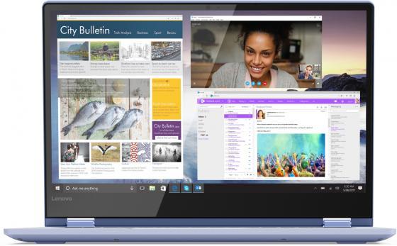 Ноутбук Lenovo Yoga 530-14IKB 14 1920x1080 Intel Core i7-8550U 256 Gb 8Gb Intel UHD Graphics 620 синий Windows 10 Home 81EK0099RU ноутбук acer swift sf314 54 82re 14 1920x1080 intel core i7 8550u 256 gb 8gb intel uhd graphics 620 красный windows 10 home nx gzxer 007