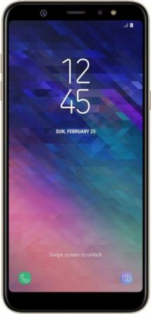 Смартфон Samsung Galaxy A6+ 2018 золотистый 6 32 Гб NFC LTE Wi-Fi GPS 3G SM-A605F SM-A605FZDNSER смартфон samsung sm g532 galaxy j2 prime серебристый mediatek mt6737t 1 5гб 8 гб 5 960x540 8mpix dualsim 3g 4g bt android 6 0
