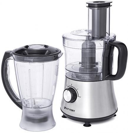 Кухонный комбайн KITFORT KT-1319 серебристый цена и фото