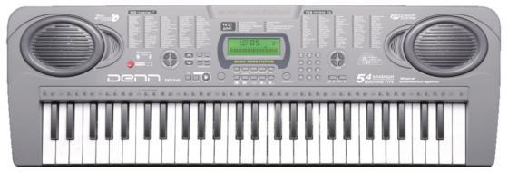 Синтезатор Denn DEK546 54 клавиш музыкальный инструмент детский doremi синтезатор 37 клавиш с дисплеем