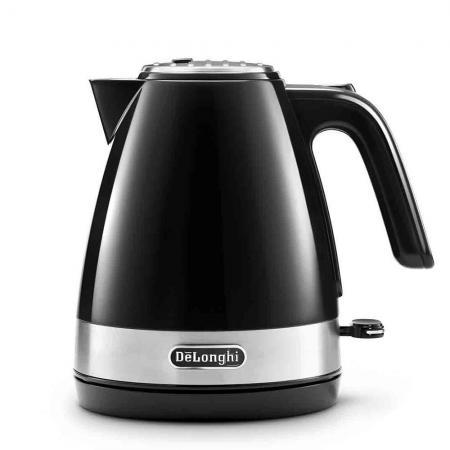 Чайник DeLonghi KBLA2000.BK 2000 Вт чёрный 1 л пластик чайник delonghi kbov2001 bk