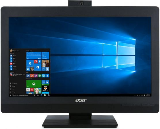 ACER Veriton Z4820G All-In-One 23,8 FHD(1920x1080)IPS, i3 7100, 4GbDDR4, 1TB/7200, Intel HD, DVD-RW, WiFi+BT, COM, USB KB&Mouse, black, Win10Pro 3Y OS partaker elite z13 15 inch made in china 5 wire resistive touch screen intel celeron 1037u oem all in one pc with 2 com