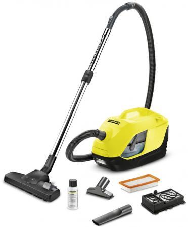 Пылесос Karcher DS 6 EU сухая уборка жёлтый чёрный автомобильный пылесос starwind cv 120 сухая уборка чёрный жёлтый