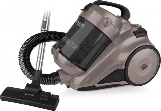 Пылесос Vitek VT-8109 сухая уборка серый чёрный пылесос vitek vt 8115 og сухая уборка оранжевый чёрный