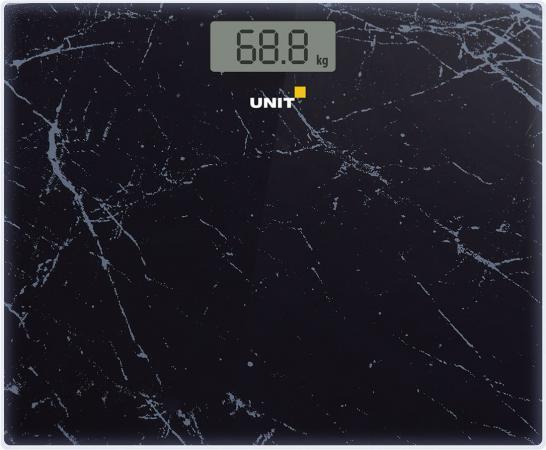 Весы напольные Unit UBS-2058 чёрный unit ubs 2053 light gray весы напольные электронные