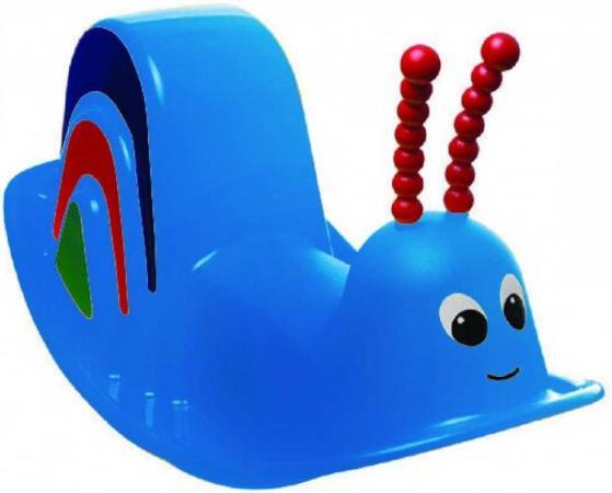 Каталка Marian Plast Улитка пластик от 3 лет на колесах синий 333/blue marian эспадрильи